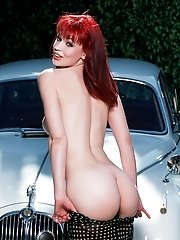 Redhead babe Swan touching her pussy