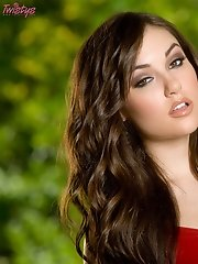Sasha Grey is sexy in a red dress!